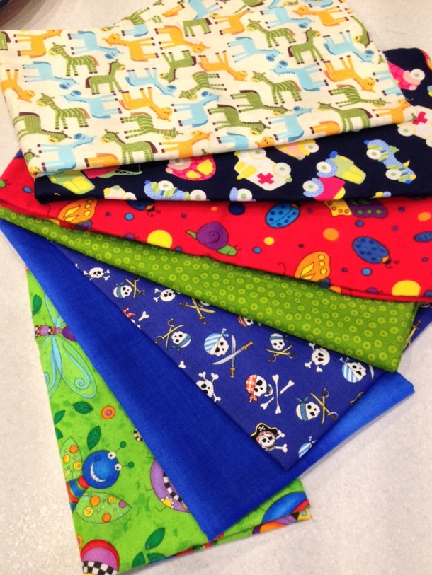 Fabric for baby boys