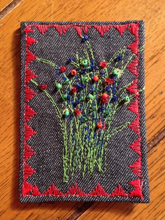 Fabric ATC artist trading card