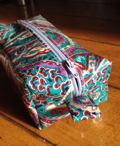 Oil cloth pencil case