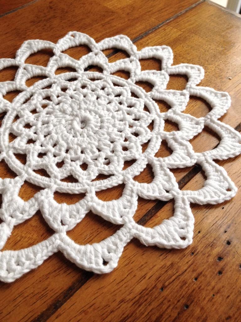 Crochet cotton mandala