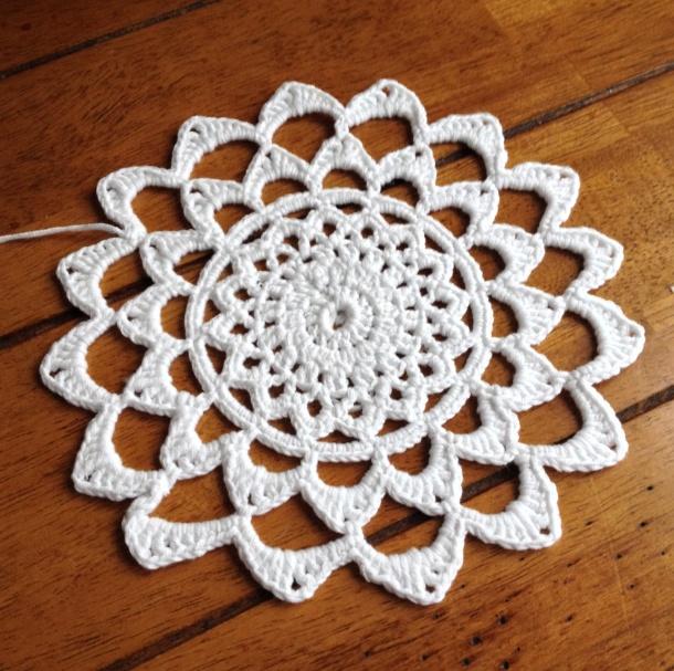 Cotton crochet mandala