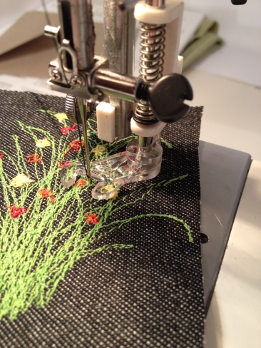 The machine embroidery foot.