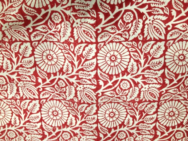 Scarlet Hand-block organic cotton