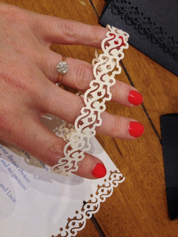 Handmade wedding invitiations