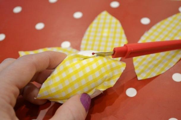 Polystyrene fabric Easter eggs