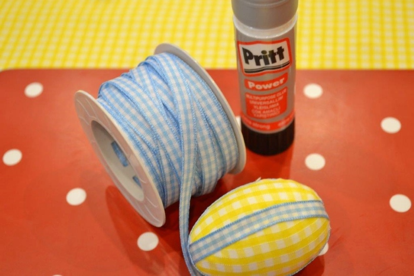 Polystyrene fabric Easter eggs
