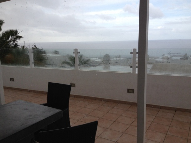 Lanzarote in the rain