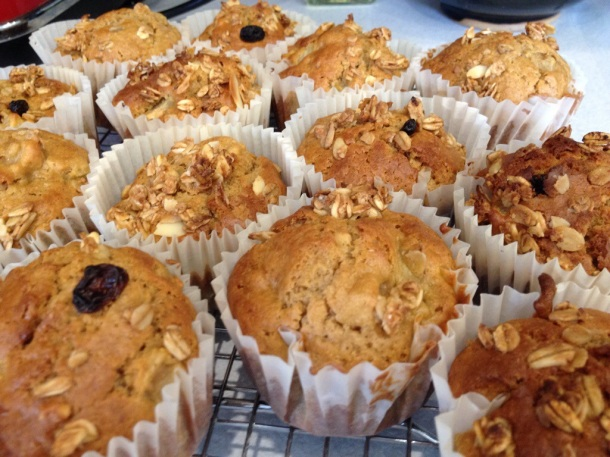 Muesli and Pear Muffins