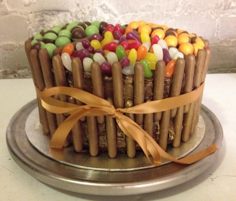 Indulgent birthday cake, courtesy of the bakery.