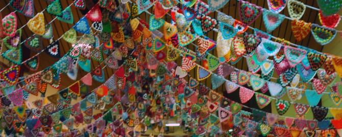 The fabulous Yarndale bunting display