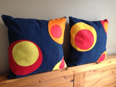 Felt applique cushions