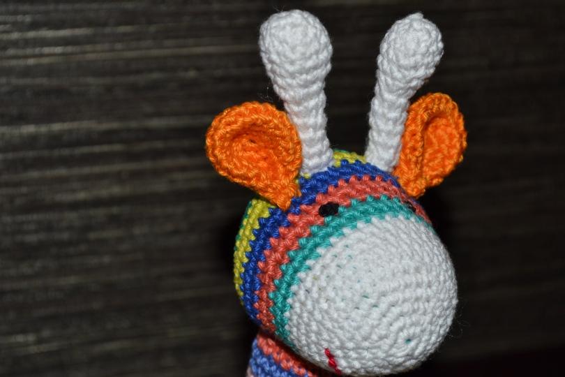 Stripy crochet giraffe