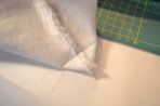 Creating the box corners to outer piece, repeated on the lining