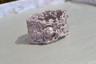 Crochet linen napkin rings