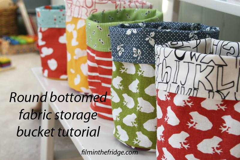 Fabric bucket tutorial from filminthefridge