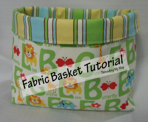 Fabric bucket tutorial from threadingmyway