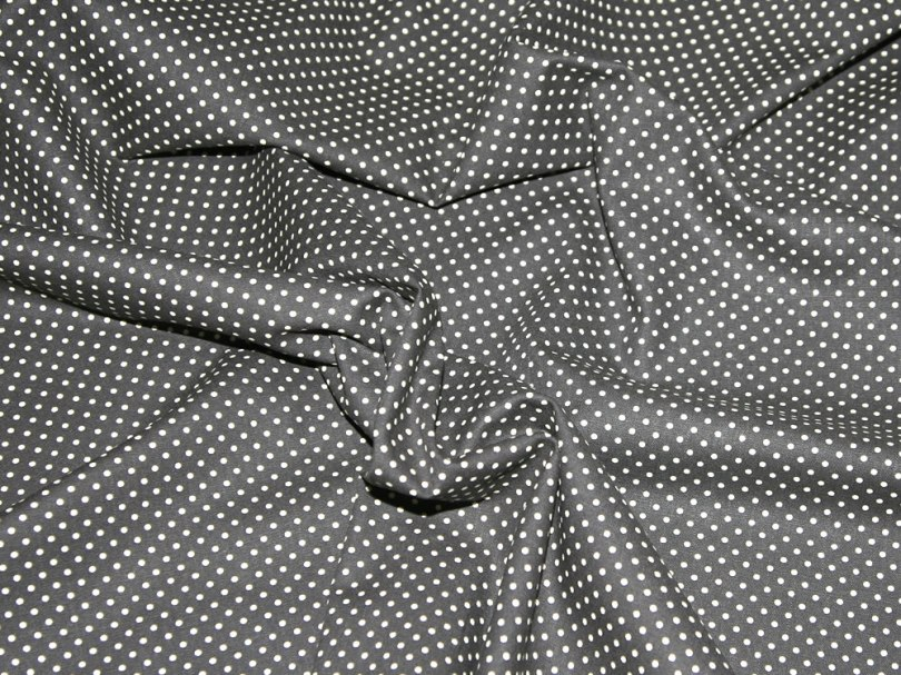 Dark grey cotton canvas dress fabric