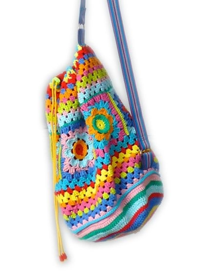 Sewchet crochet bag.