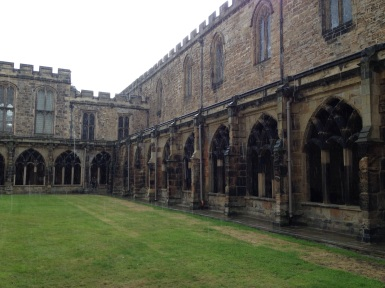 Durham Cathedral Cloisters in the rain