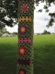 No lamp posts were injured in this yarnbombing
