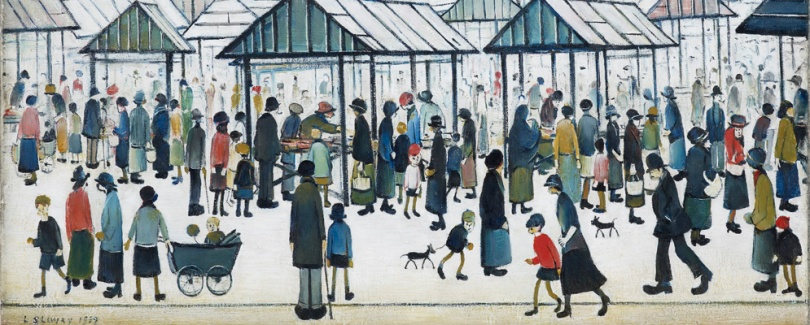 Lowry Market Scene