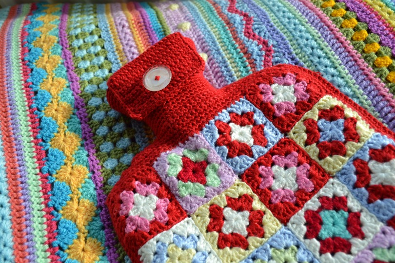 Crochet hot water bottle