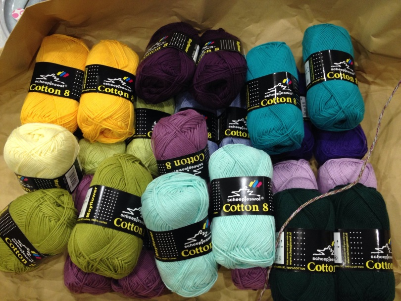 Scheepies cotton yarn for the CAL