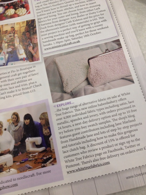 My wedding purse in Love Sewing Mag
