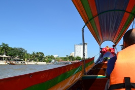 Longtail boat up the Chao Phraya River in Bangkok