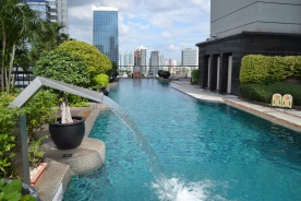 The roof top pool of the Banyan Tree, Bangkok