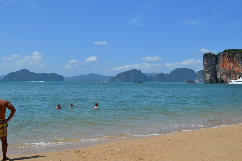 One of the beautiful beaches of the Ao Phang Nga National Park