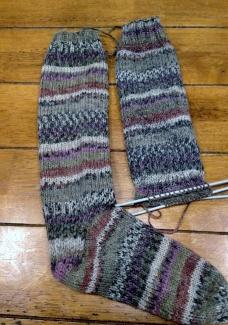 Long socks in Sidar Crofter DK