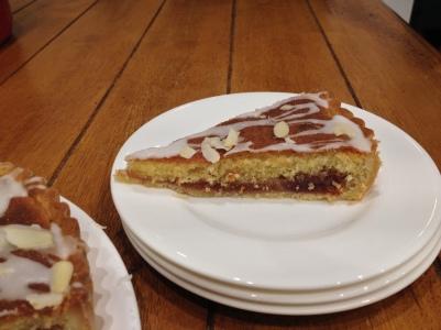 Homemade Bakewell tart