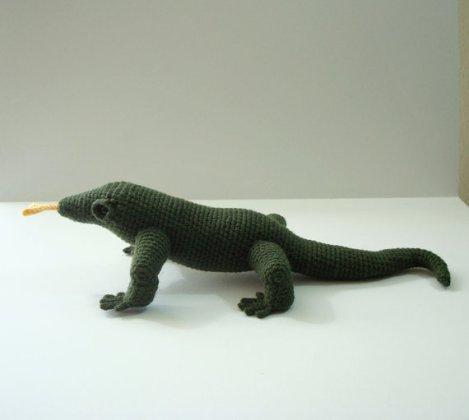 Komodo Dragon by Susan of the etsy shop OohLookItsARabbit