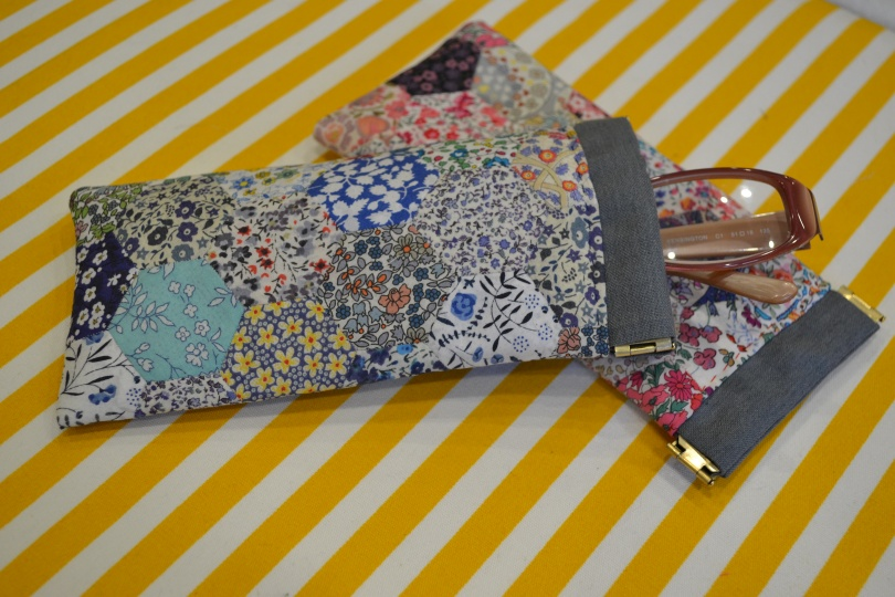 Liberty Hexie glasses case.