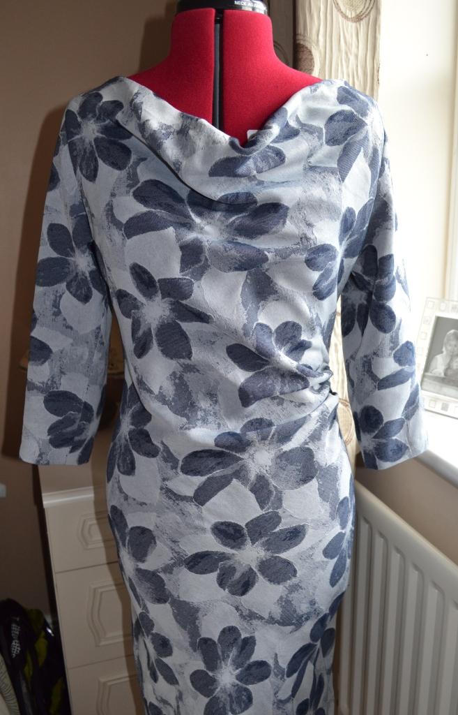 1. Burda syle Cowl Dress 102012