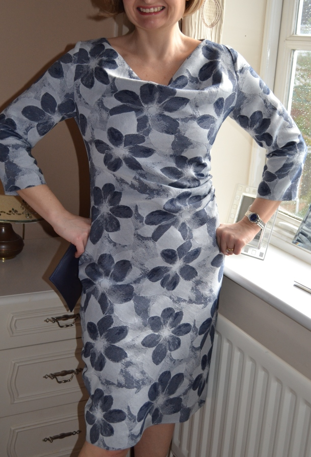7. Burda syle Cowl Dress 102012