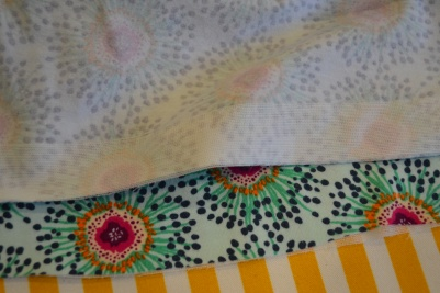 Use of iron on stretch interfacing.