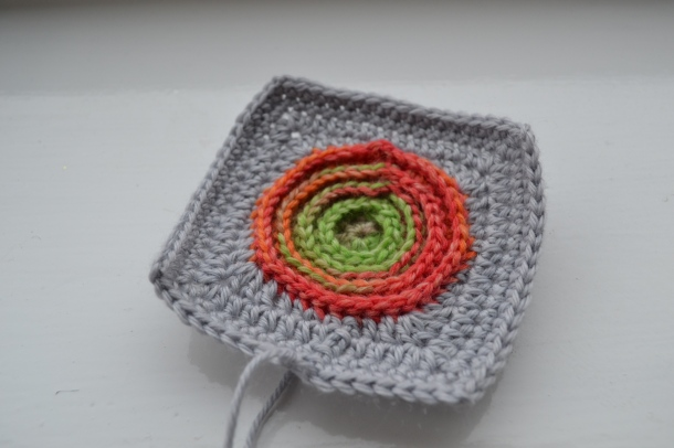 Crochet Circle square blanket