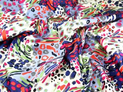 Wacky Animal Print Jardin Stretch Cotton Sateen Dress Fabric
