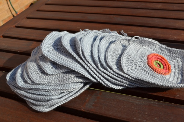 Crochet Circle square blanket
