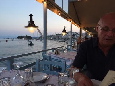 Mr Jones perusing the menu