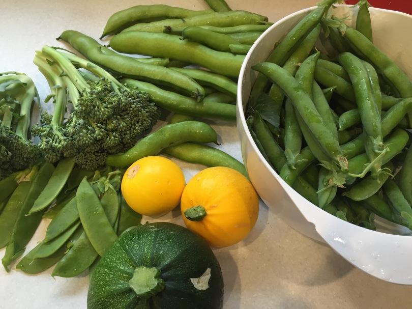 Home grown veg.