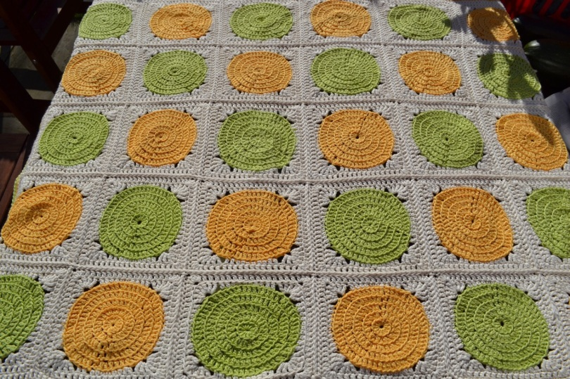 Citrus crochet blanket 1