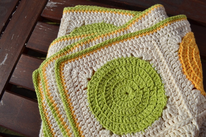 Citrus Crochet blanket 5