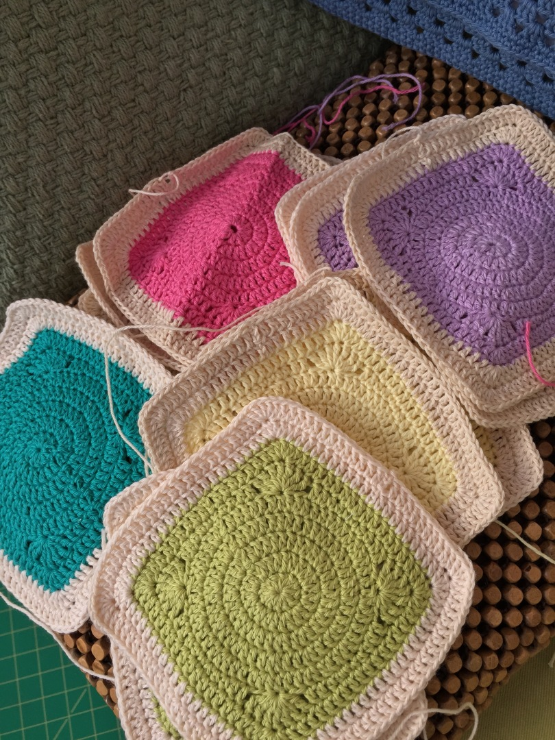 Crochet circles within squares