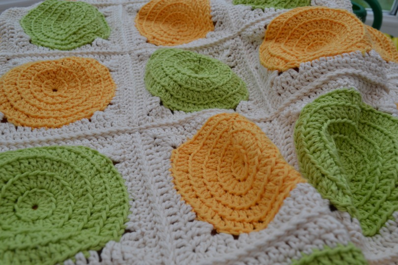 Cotton crochet blanket
