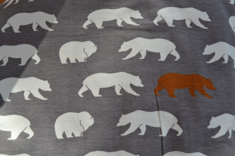 Grey Bear Hike Shroom birch knit organic fabric from the USA
