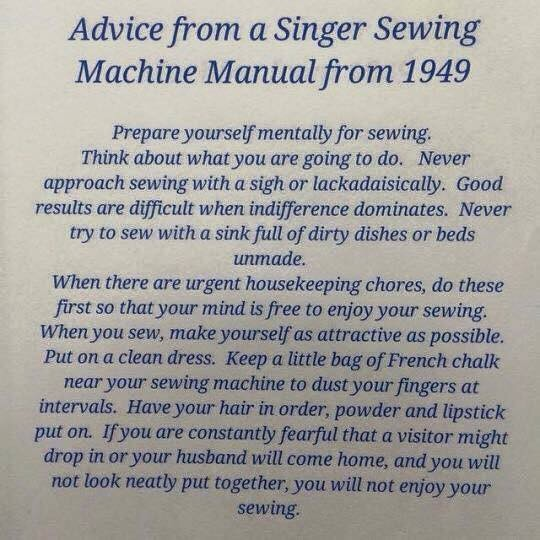 Advice from a Singer manual