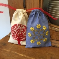 Another Zakka Embroidery jewellery pouch